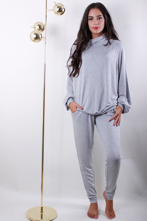 Soyaconcept Turtle Neck Top Light Grey