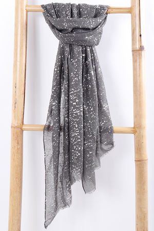 Sparkle Fleck Scarf Grey