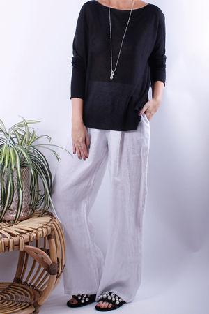 Speckle Marl Fine Knit Black