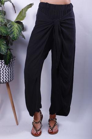 Split Tie Trousers Black