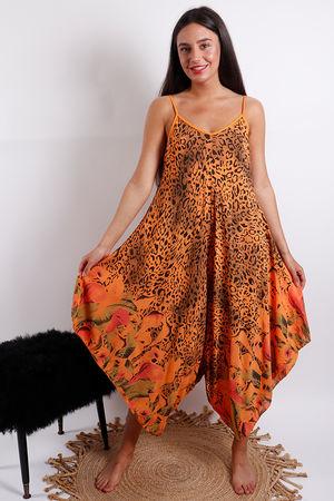 St Kitts Handkerchief Jumpsuit Orange