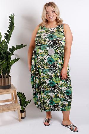 St Kitts Palm Base Dress