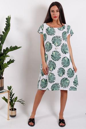 St Kitts Palm Dress White