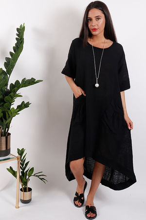St Kitts Two Pocket Dress Black