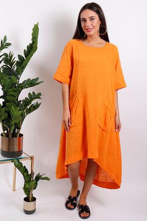 St Kitts Two Pocket Dress Tangerine