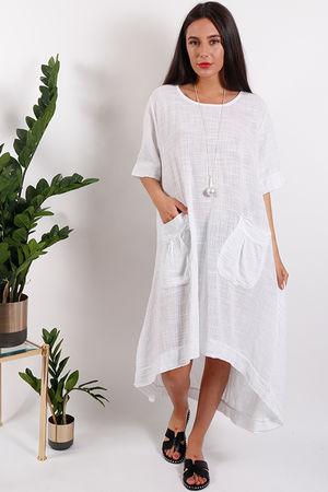 St Kitts Two Pocket Dress White