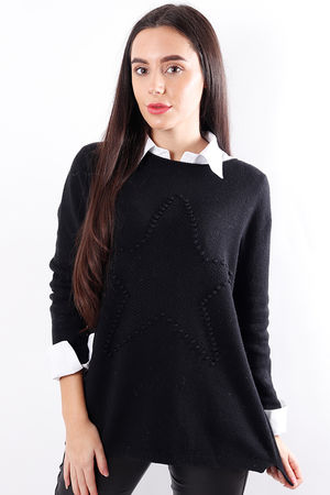 Star Knit Black