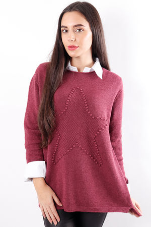 Star Knit Mulberry