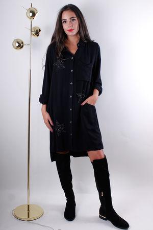 Star Oversized Shirt Black