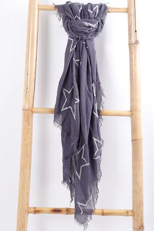 Star Scarf Grey