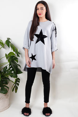 Star Shoulder Sweat Dove