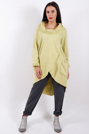 Stockholm Split Front Sweat Lime