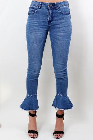 Stretch Flower Pop Jeans