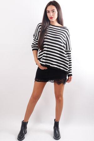 Stripe Box Knit Black