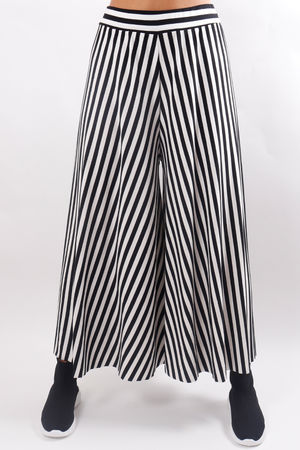 Stripe Culotte Pant Black