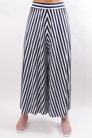 Stripe Culotte Pant Navy