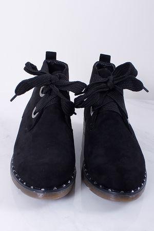 Stud Detail Desert Boots Black