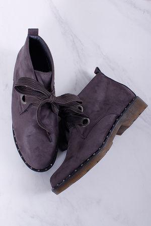 Stud Detail Desert Boots Grey