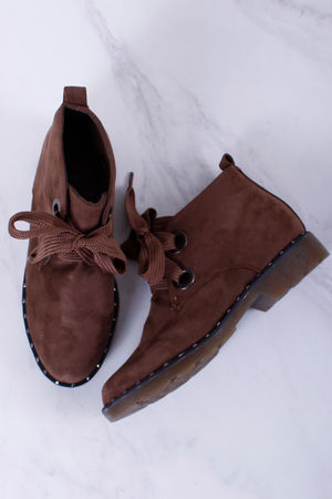 Stud Detail Desert Boots Mocha