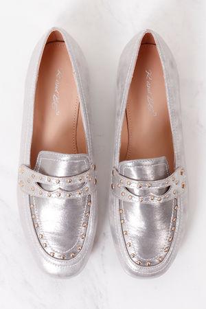 Stud Loafer Silver