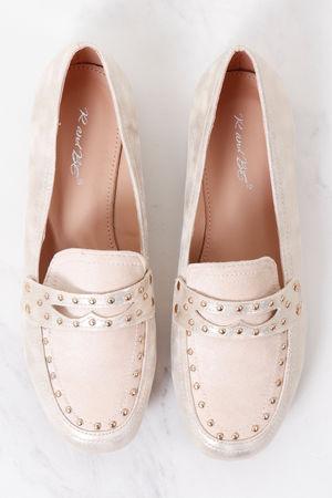 Stud Loafer Soft Gold