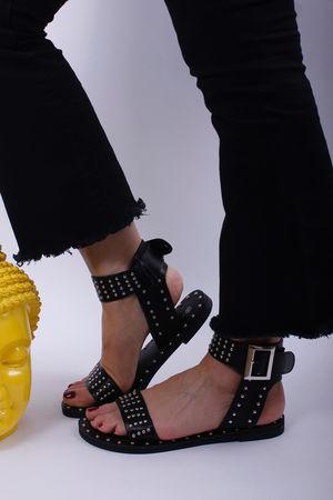 Stud Sandals Black