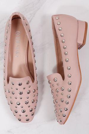 Studded Slipper Shoe Nude Blush