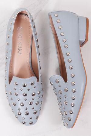 Studded Slipper Shoe Powder Grey