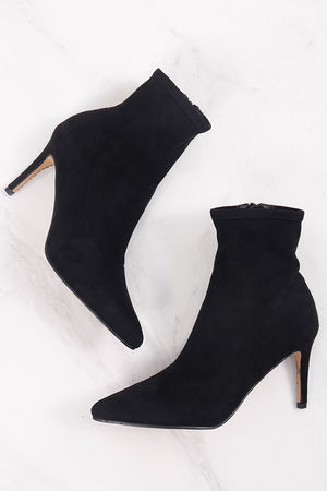 Suedette Ankle Boot Black