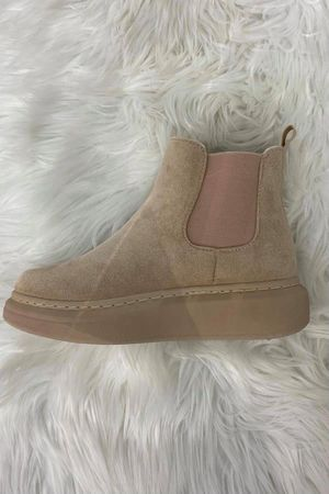 Suedette Hover Boot Beige
