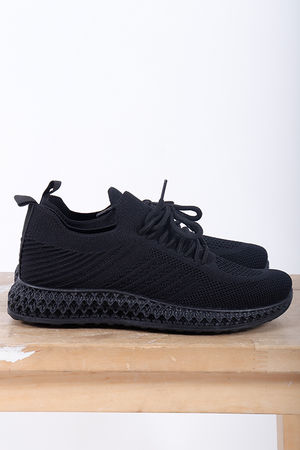 Super Knit Trainers Black