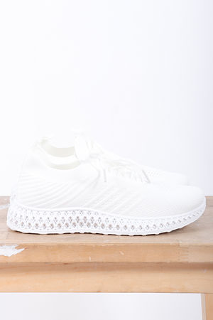 Super Knit Trainers White