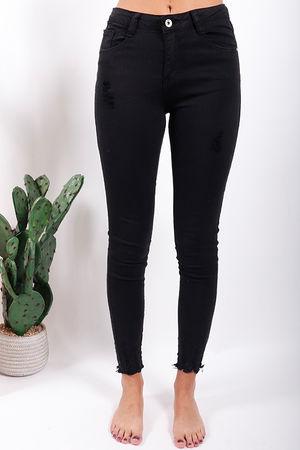 Super Shred Skinny Jeans Plus Black