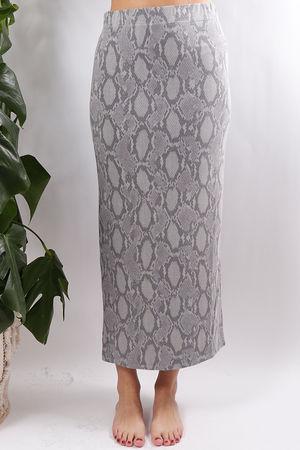 Suri Snake Print Midi Skirt Whisper