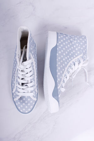 Tamaris Denim Blue Star High Top Pump