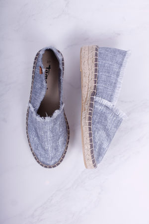 Tamaris Denim Lurex Espadrilles