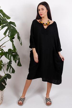 Tangiers Cocoon Dress Black
