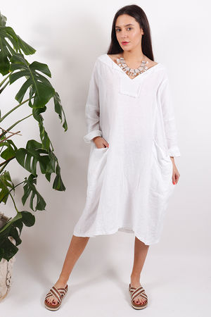 Tangiers Cocoon Dress White