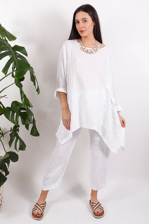 Tangiers Net Patch Top White