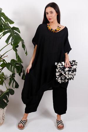 Tangiers Origami Tunic Black