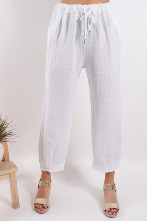 Tangiers Wide Leg Pant White