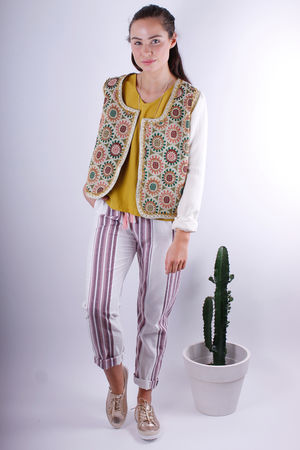 Tapestry Front Jacket Cream