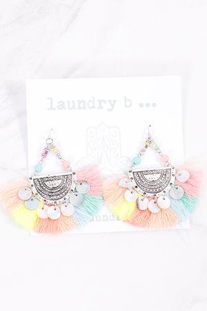 Tassel Fan Earrings Pastels