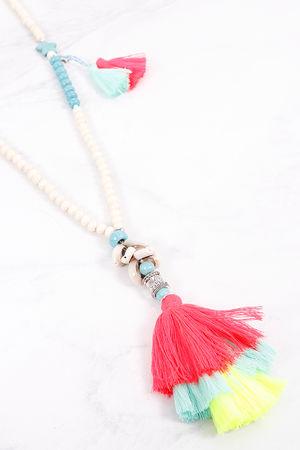 Tassel Necklace Colour Pop