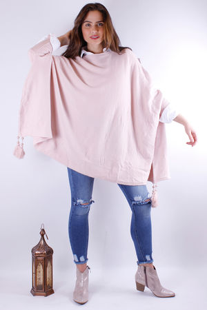 Tassel Oversized Knit Rose Quartz
