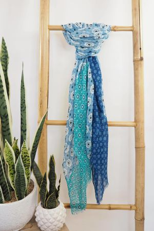Tessellated Moroccan Scarf Blues