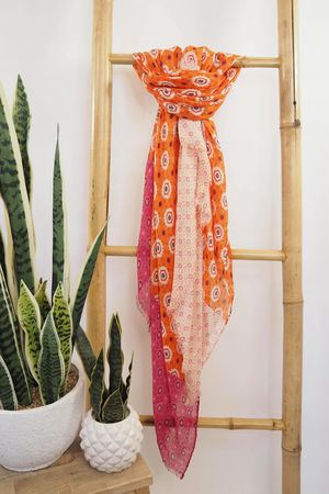 Tessellated Moroccan Scarf Oranges