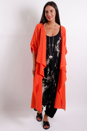 Textured Jacket Tangerine
