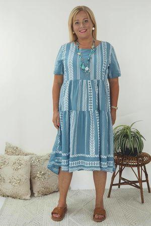 The Ikat Smock Dress Denim