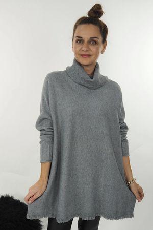 The Aspen Cowl Knit Grey Marl